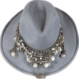 GOTTEX NWT Taj Wool Felt UPF 50 Chain Cowboy Hat